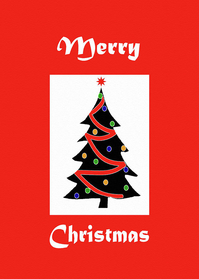 Merry Christmas Tree-greeting Card Painting