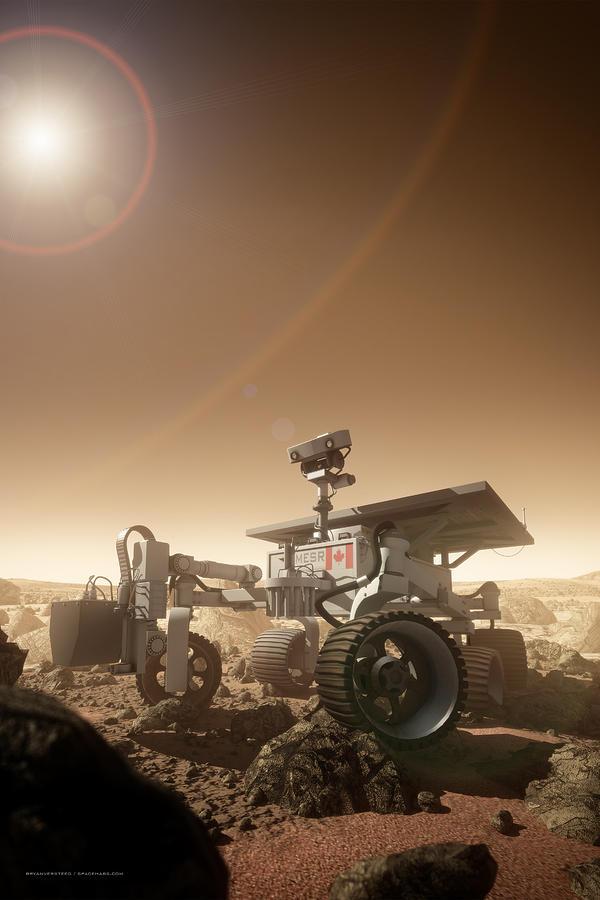 Mars Rover Digital Art - Mers Rover by Bryan Versteeg