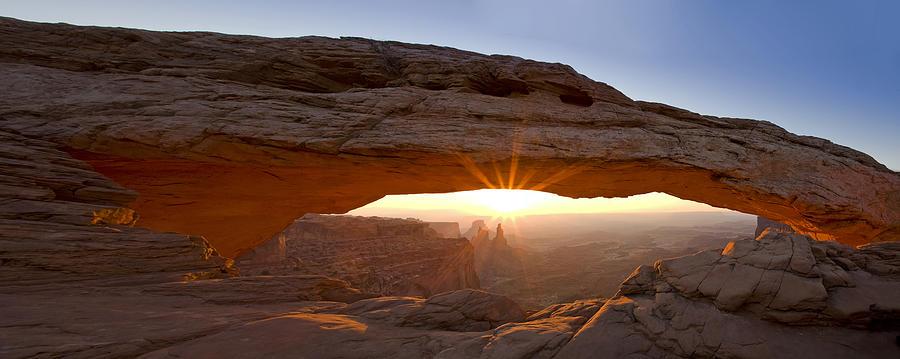 Mesa Arch Photograph - Mesa Arch Panorama by Andrew Soundarajan