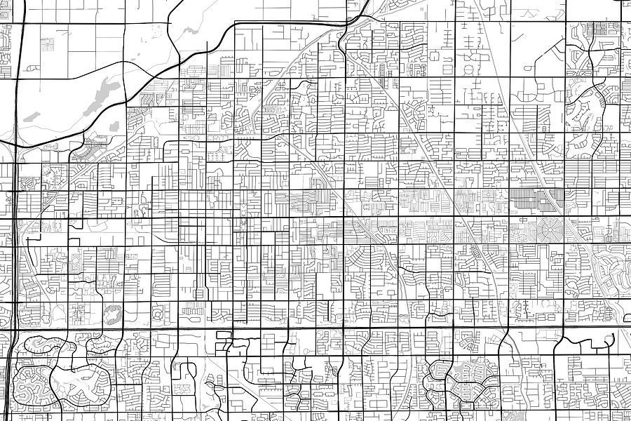 Mesa Arizona Usa Light Map Digital Art by Jurq Studio