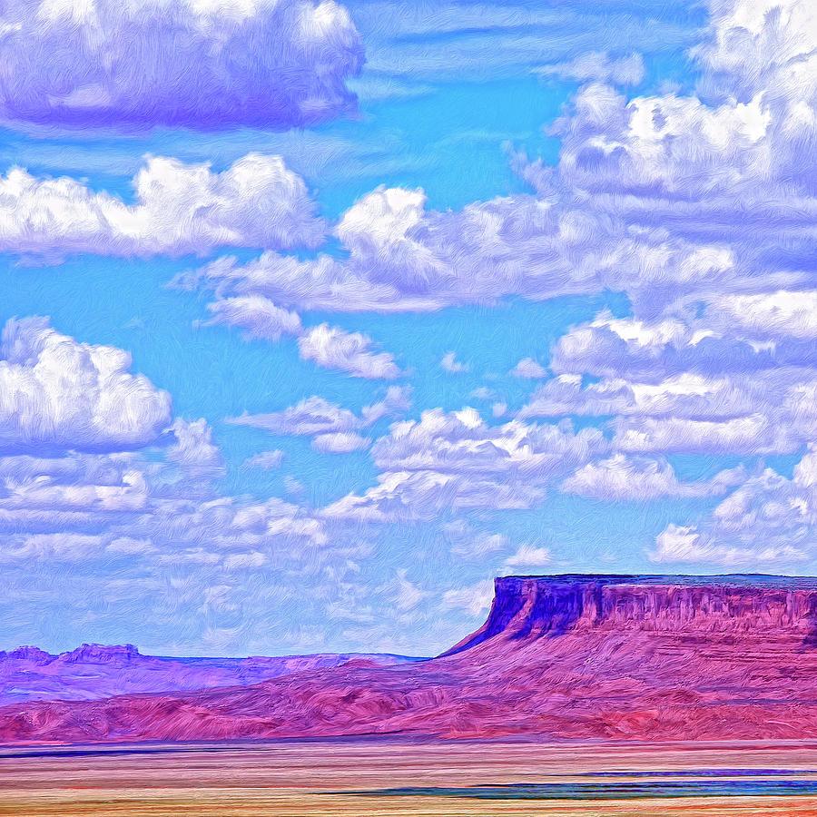 Utah Painting - Mesa At Vermilion Cliffs by Dominic Piperata