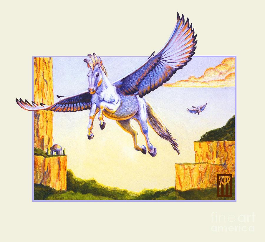 Pegasus Digital Art - Mesa Pegasus by Melissa A Benson