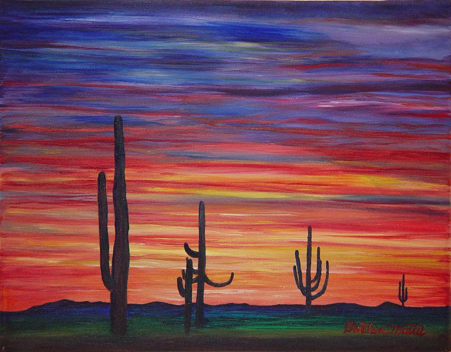 Landscape Painting - Mesa Sunset by Gretchen Matta