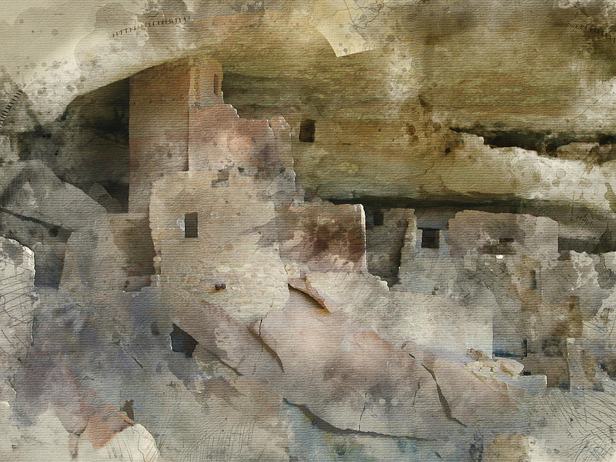 Mesa Verde Water Color by Gary Baird