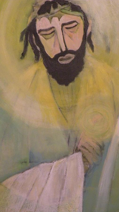 Portrait Painting - Mesiah by Robert Daniels