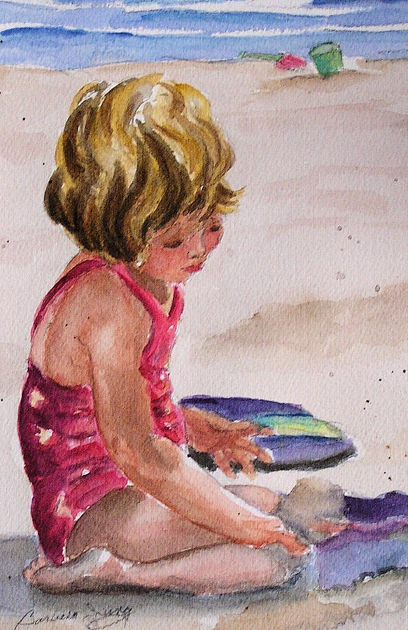 Little Girl Painting - Mesmerized by Barbara Jung