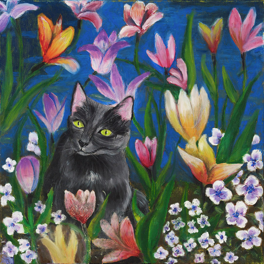 Cat Painting - Mesmerizing by Jason Rosenstock