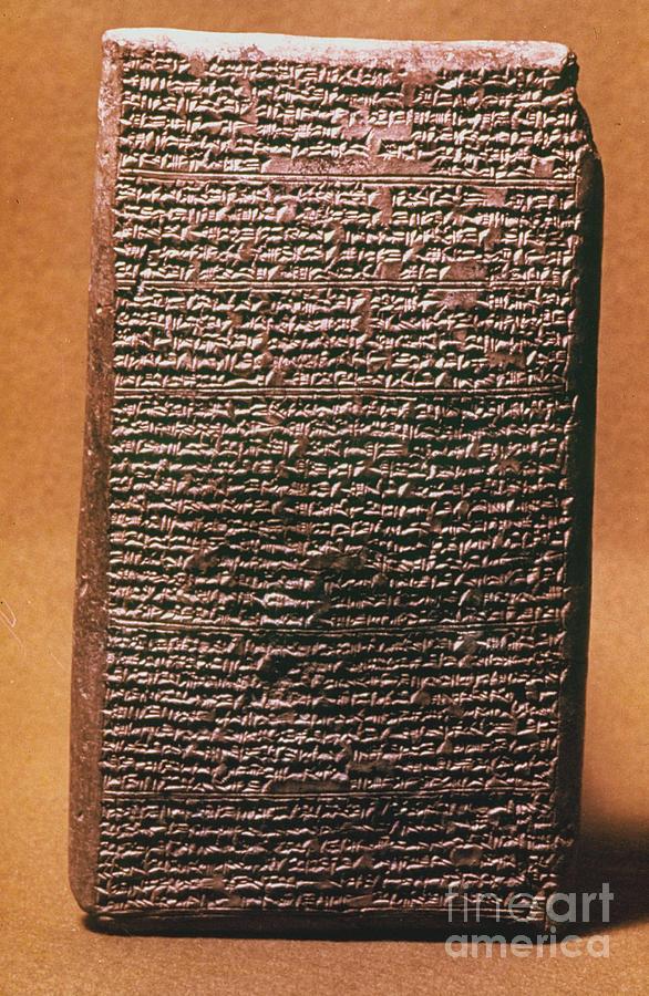 18th Dynasty Photograph - Mesopotamian Cuneiform by Granger