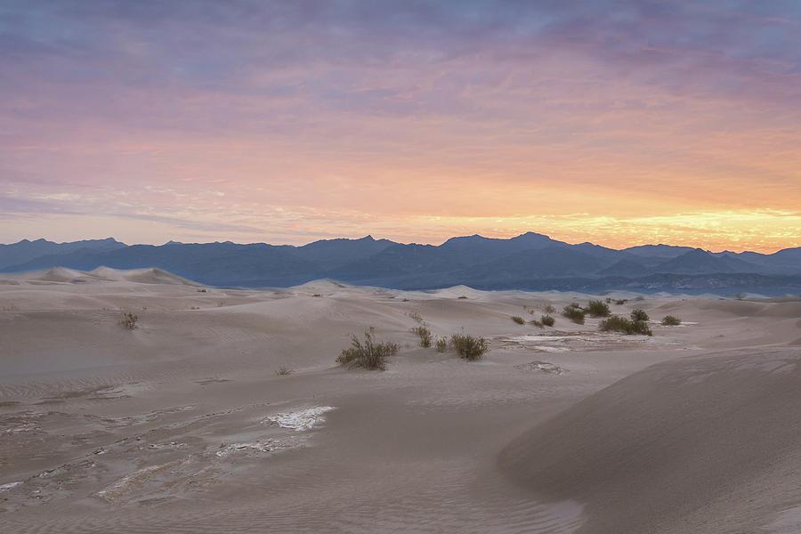 Mesquite Flat Sand Dunes At Sunrise Photograph