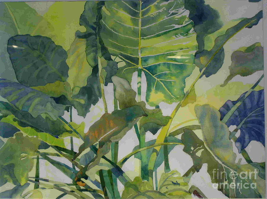 Green Painting - Mess Of Greens by Elizabeth Carr