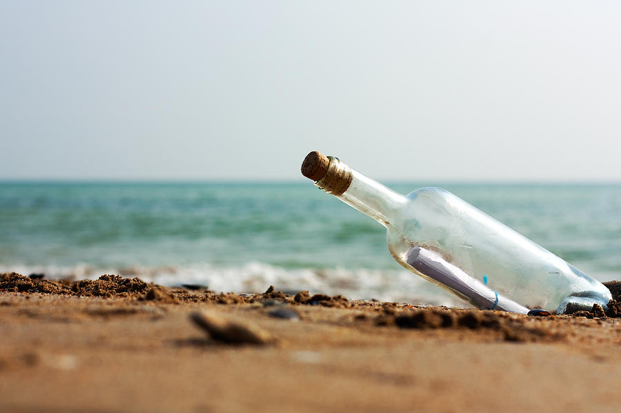 Ashore Photograph - Message In A Bottle by Boyan Dimitrov