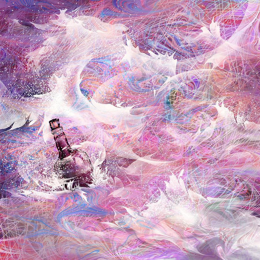 Message Digital Art - Message In A Bottle by Rachel Christine Nowicki