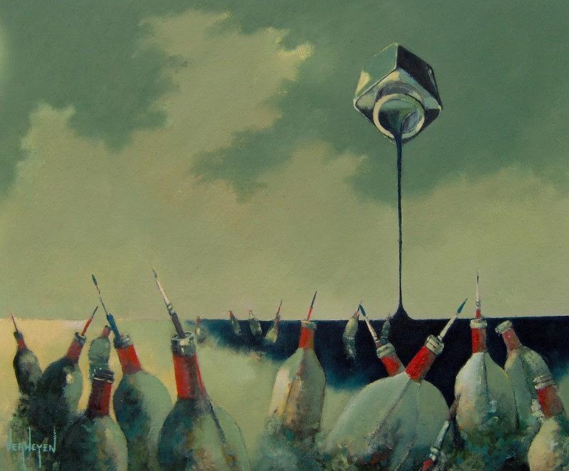 Seascape Painting - Message In A Bottle by Robert Verheyen