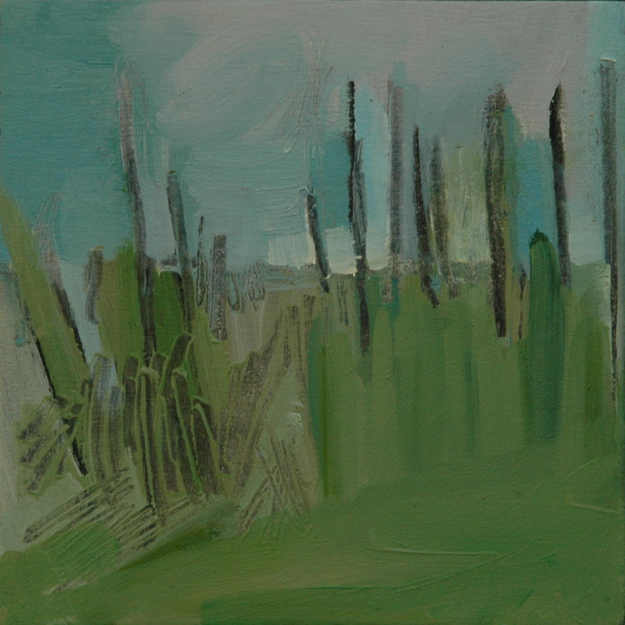 Landscape Painting - Message In A Cornfield by Liz Maxfield