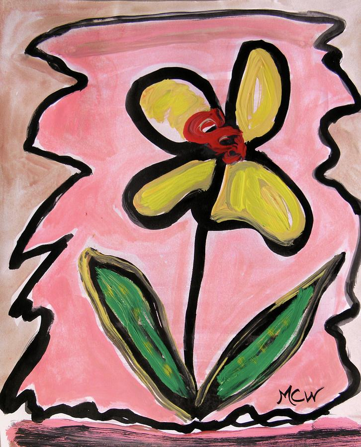 Flower Painting - Message Of Yellow by Mary Carol Williams