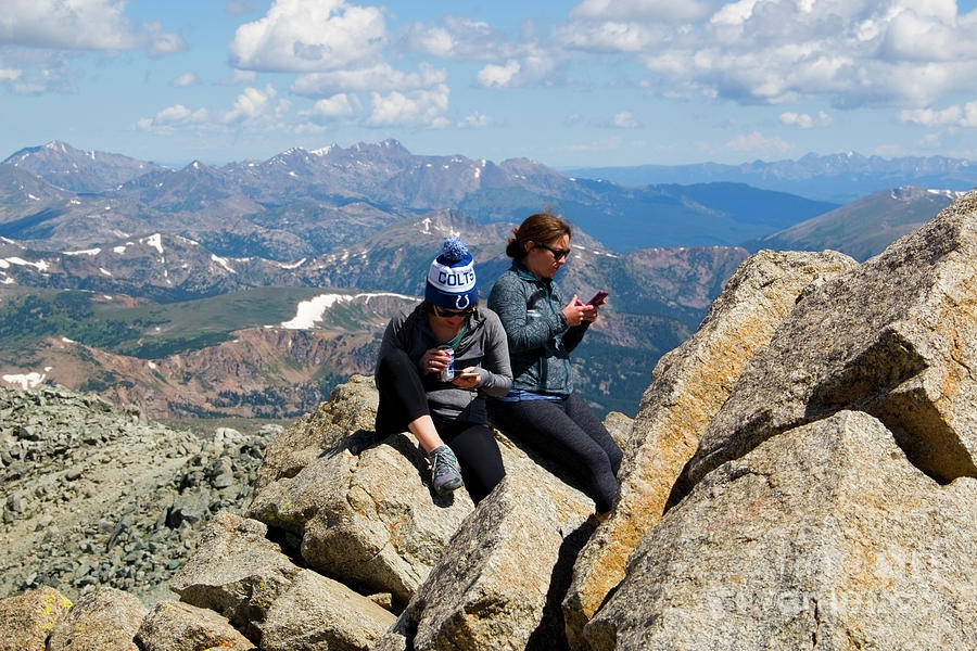 Messaging The Mount Massive Summit Photograph