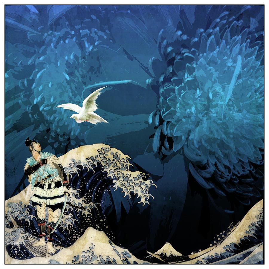 Dove Digital Art - Messenger by Laura Botsford