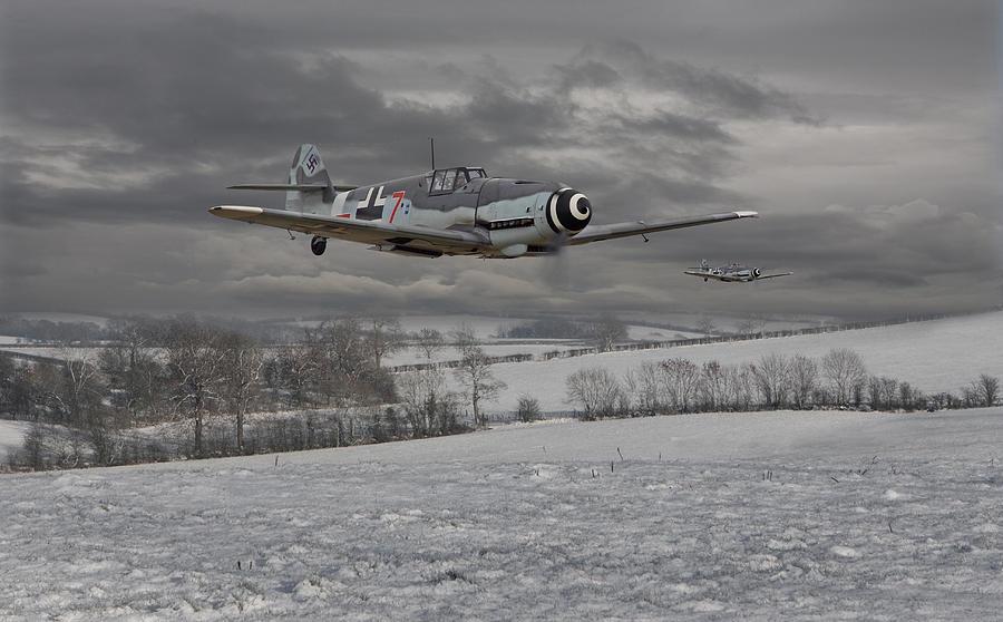 Aircraft Photograph - Messerschmitt Bf 109 G - Gustav by Pat Speirs