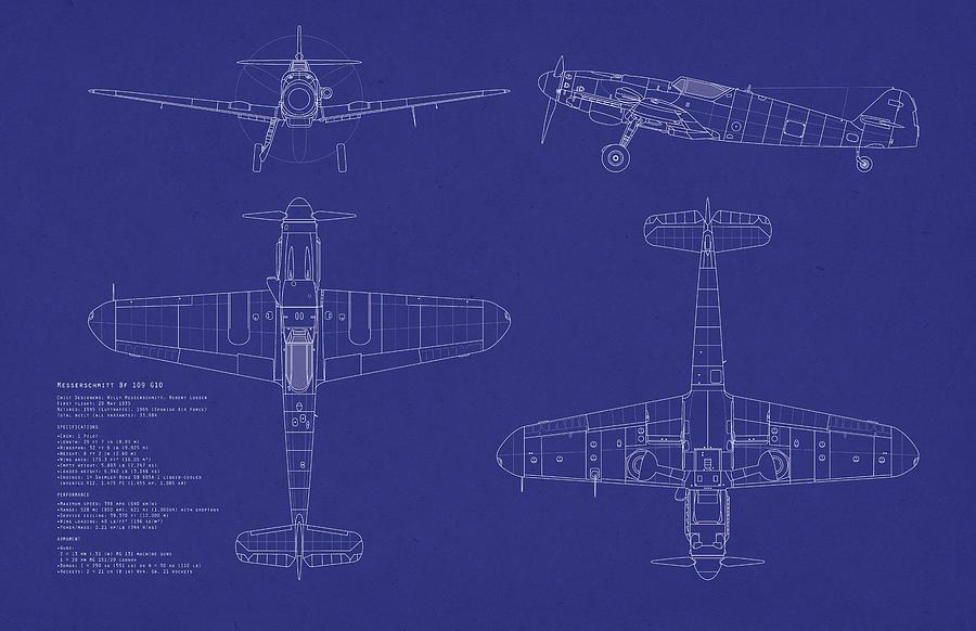 Messerschmitt Digital Art - Messerschmitt Me109 by Michael Tompsett
