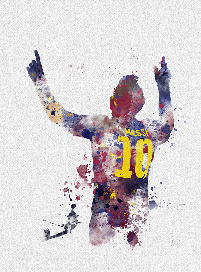Messi Mixed Media - Messi by My Inspiration