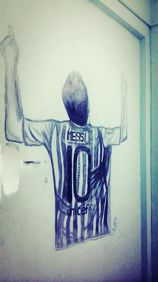 ca2f330c4 Messi Victory Drawing by Rahul Bose