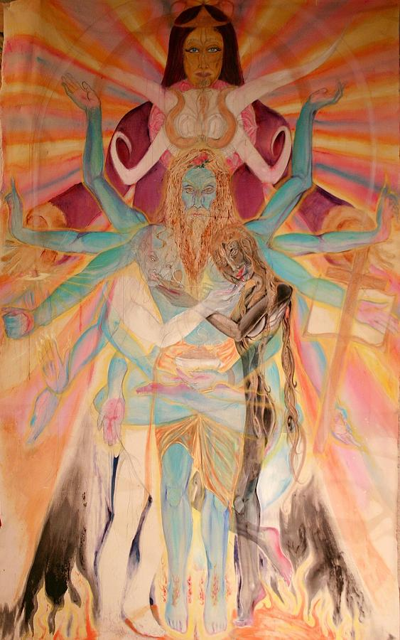 Figurative Painting - Messiah by Brian c Baker