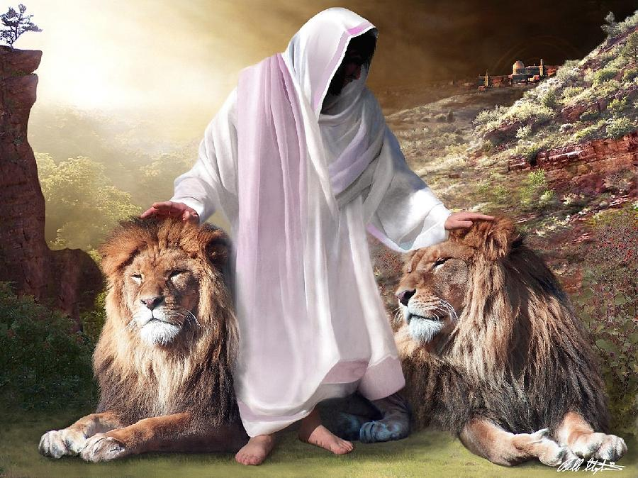 Spiritual Digital Art - Messiah Israel And Judah by Bill Stephens