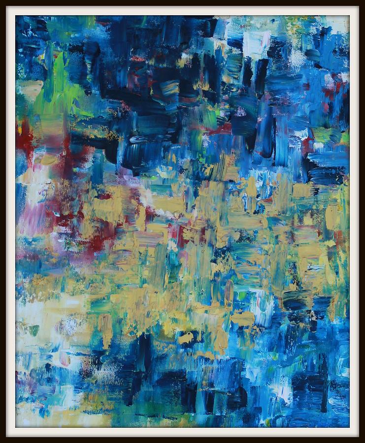 Messy Painting - Messy Ocean by Joanna Georghadjis