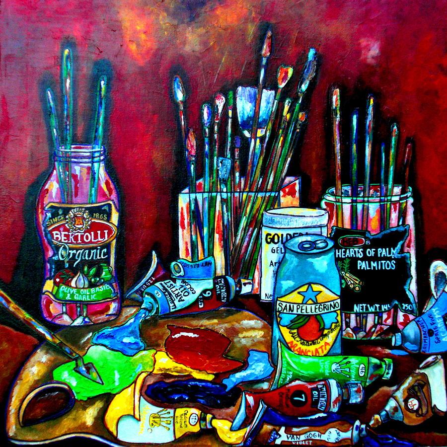 Art Studio Painting - Messy Paints II by Patti Schermerhorn