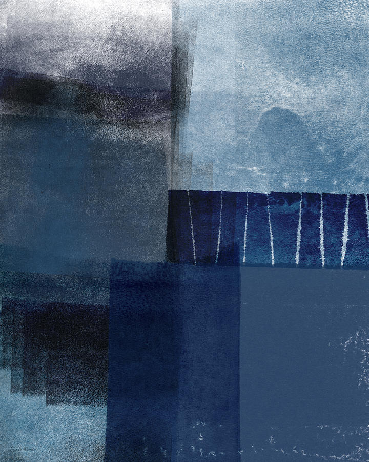 Blue Mixed Media - Mestro 1- Abstract Art by Linda Woods by Linda Woods