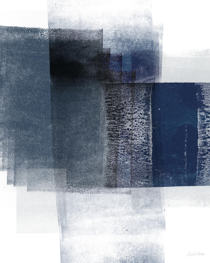 Blue Mixed Media - Mestro 2- Abstract Art by Linda Woods by Linda Woods