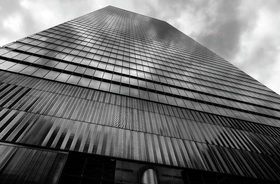 High Rise Photograph - Metal And Glass High Rise by Robert Ullmann