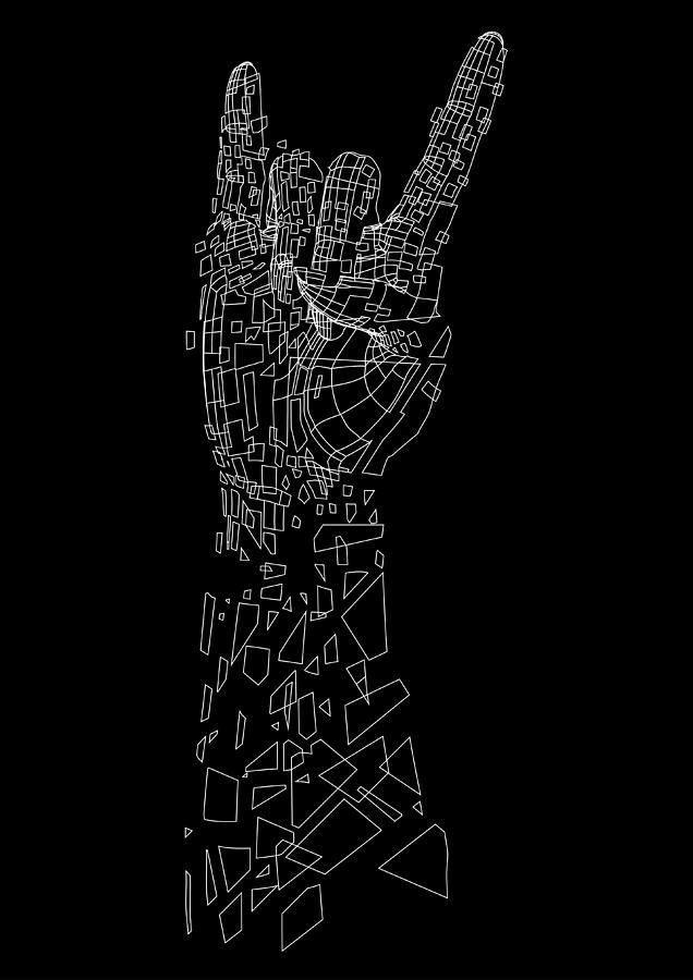 Vector Digital Art - Metal by Andreas  Leonidou