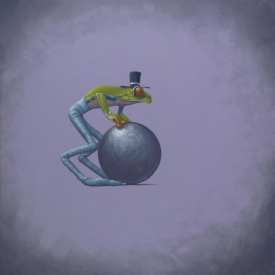 Top Hat Painting - Metal Ball by Jasper Oostland