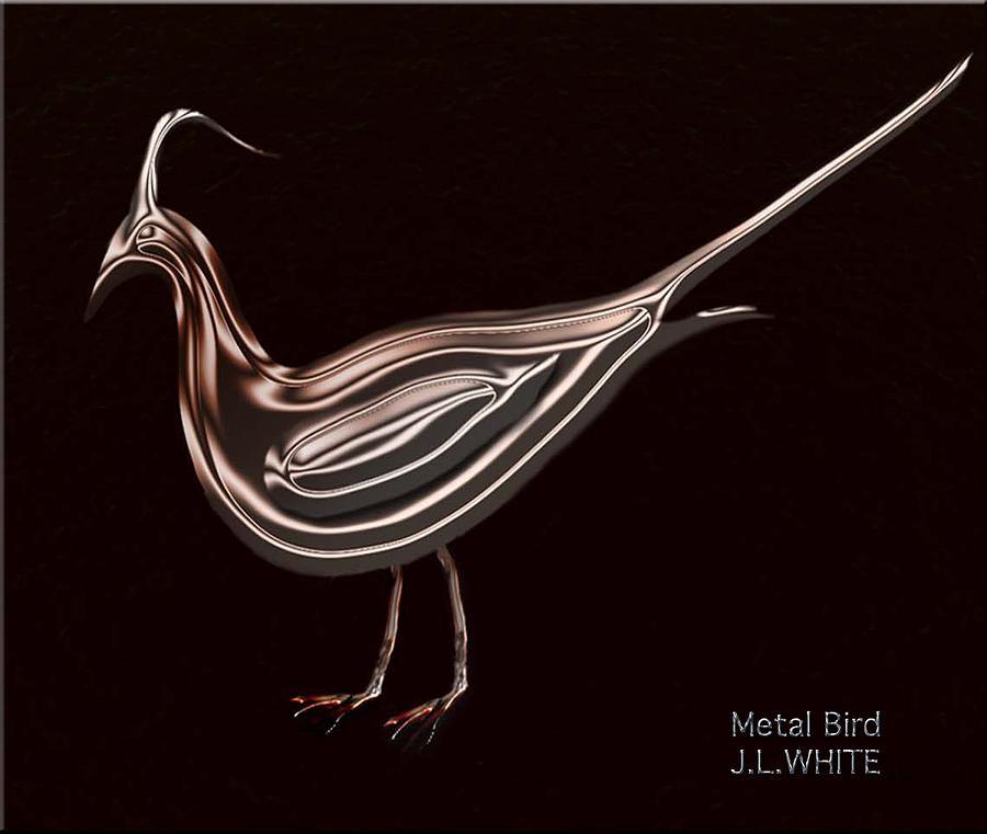 Metal Bird Digital Art by Jerry White