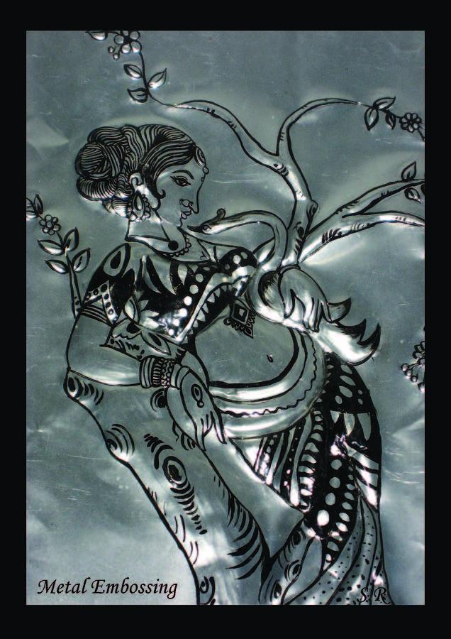 Metal Embossing Painting by Resmi Salil