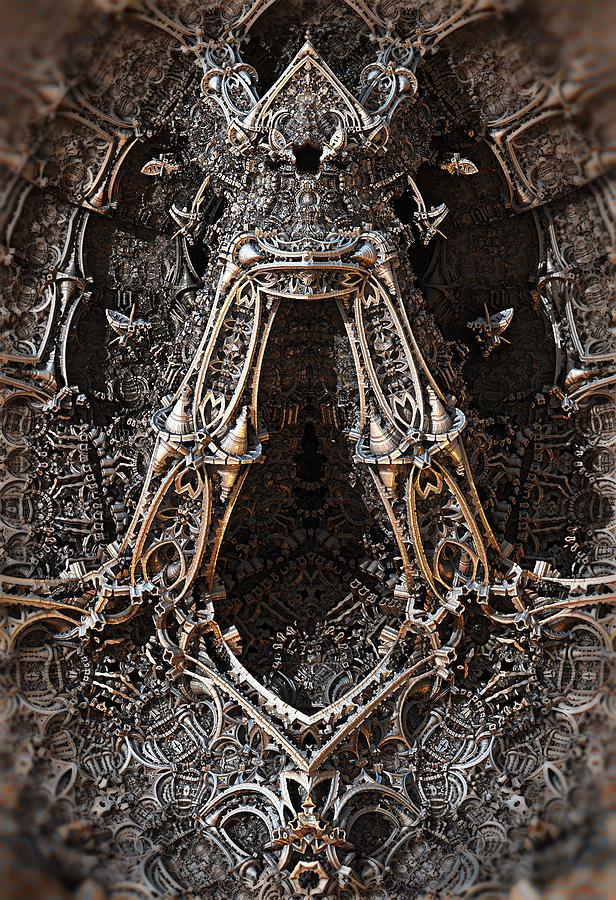 Metal Jewelry Sculpture Digital Art by Hal Tenny