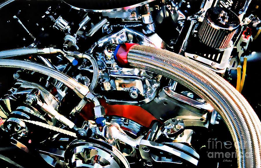 Engine Photograph - Metal Matter by Linda  Parker