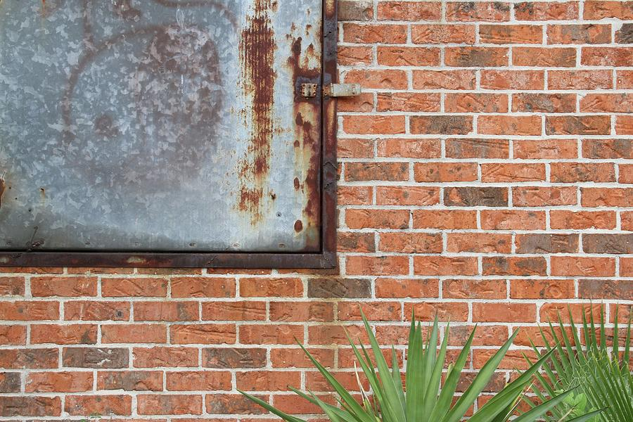 Brick Photograph - Metal, Rust and Brick by Russell Owens