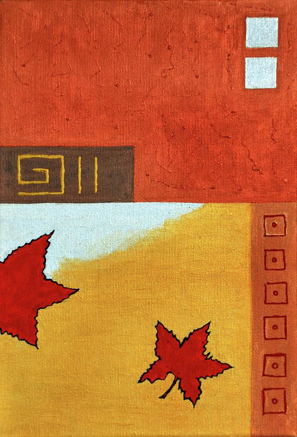 Maple Leaves Painting - Metaleaf 2 by Farah Faizal