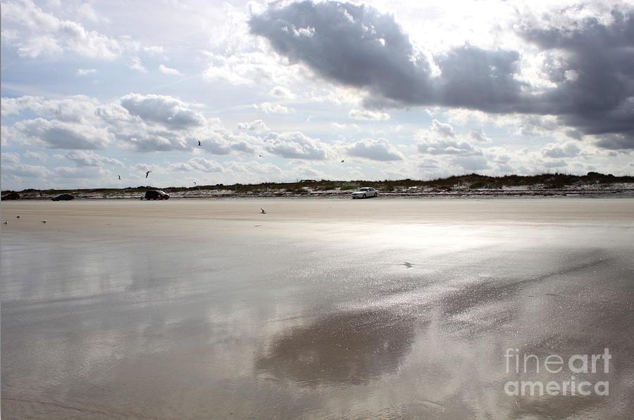 Beach Photograph - Metallic Beach by Samiksa Art