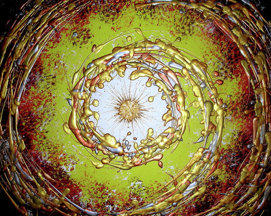 Original Painting - Metallic Dream by Daniel Lafferty