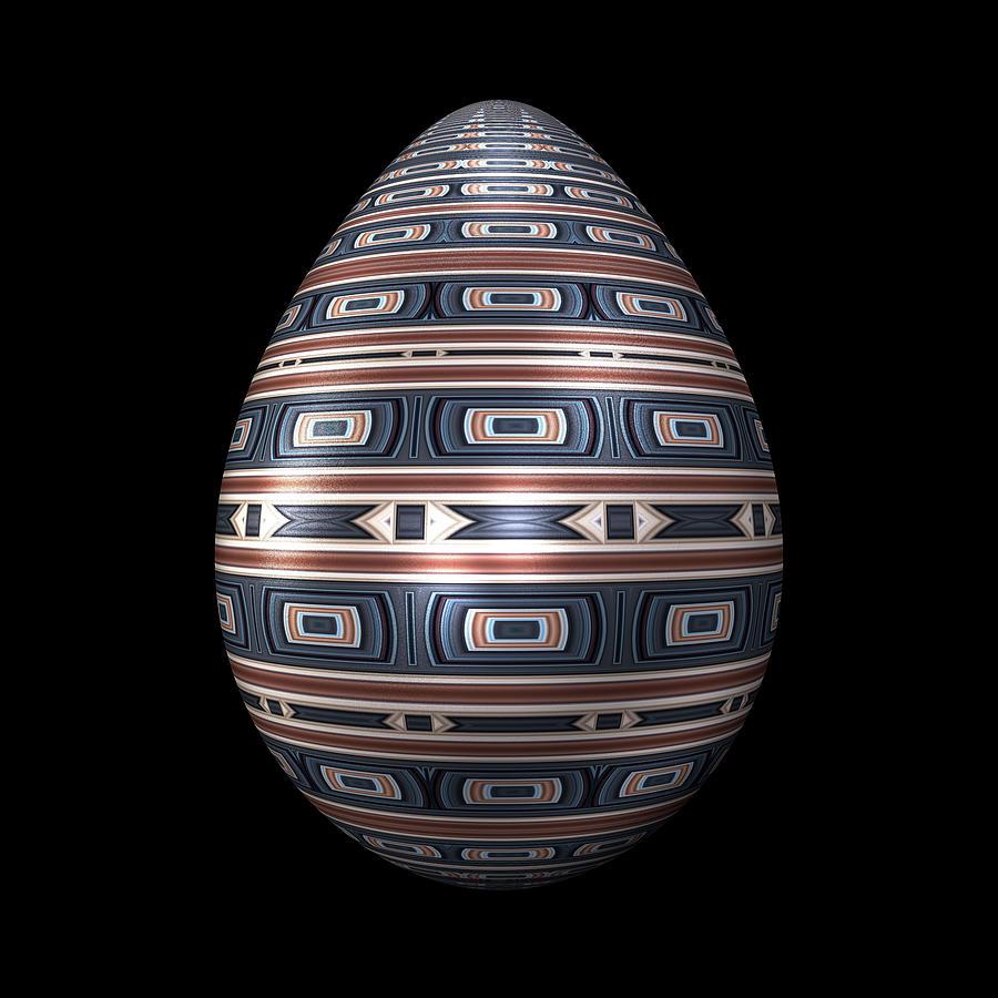 Metallic Foil Pattern Egg Digital Art