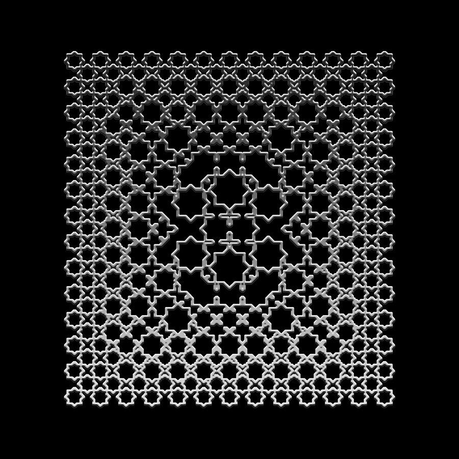 Metallic Lace Digital Art - Metallic Lace Axxxv by Robert Krawczyk