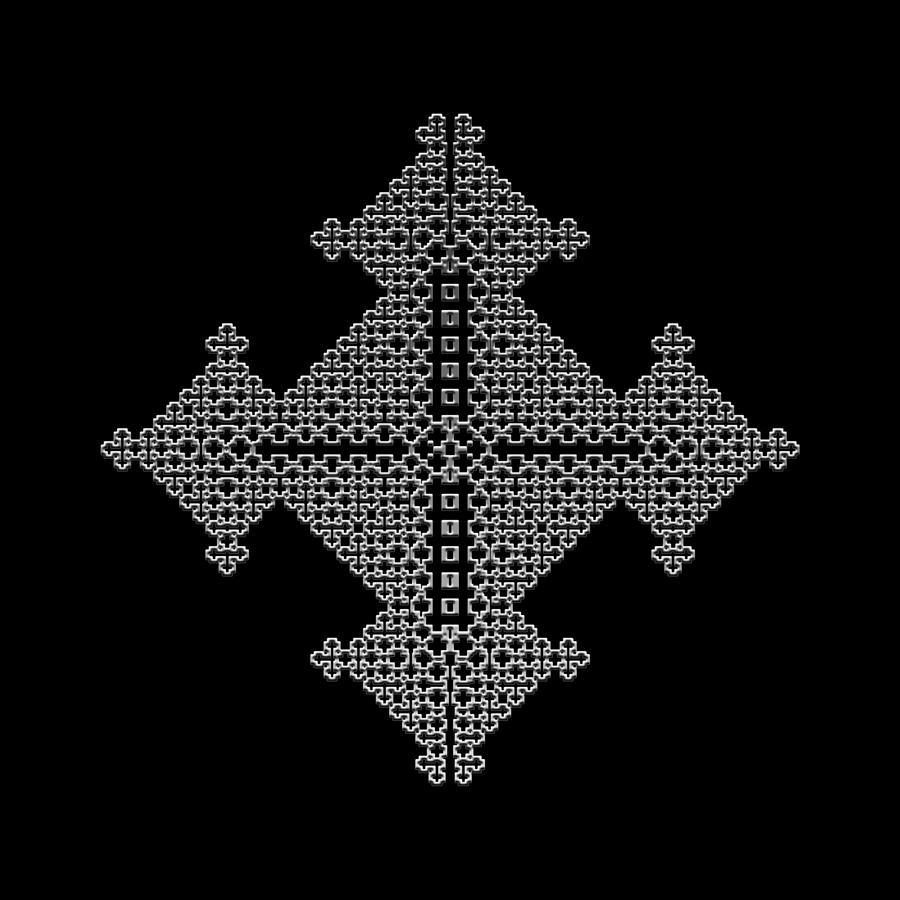 Metallic Lace Digital Art - Metallic Lace Bix by Robert Krawczyk