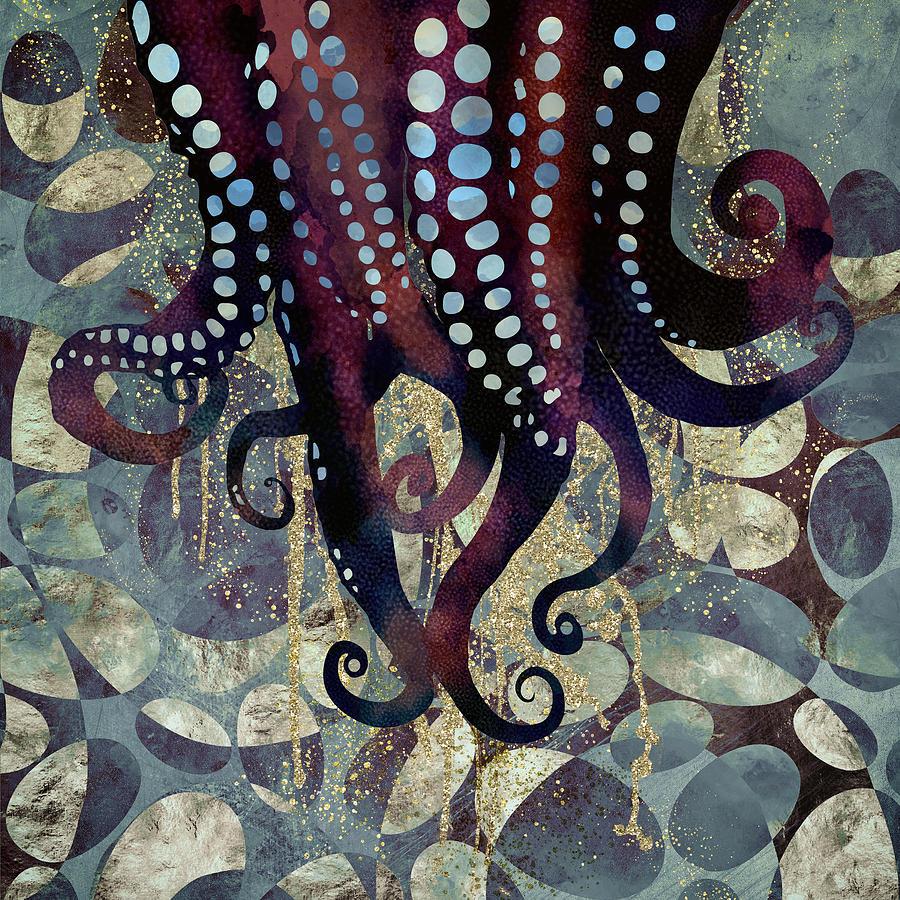 Ocean Digital Art - Metallic Ocean II by Spacefrog Designs
