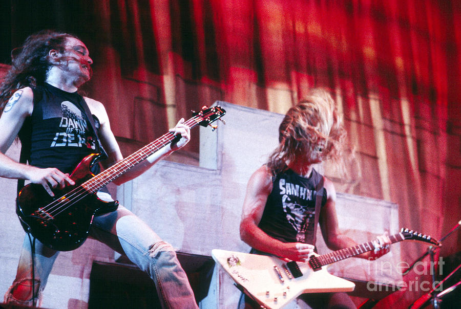 Metallica Photograph - Metallica 1986 Cliff And James by Chris Walter