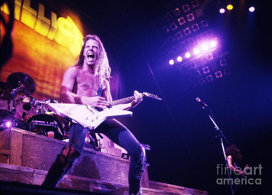 Rock And Roll Photograph - Metallica 1986 James Hetfield by Chris Walter