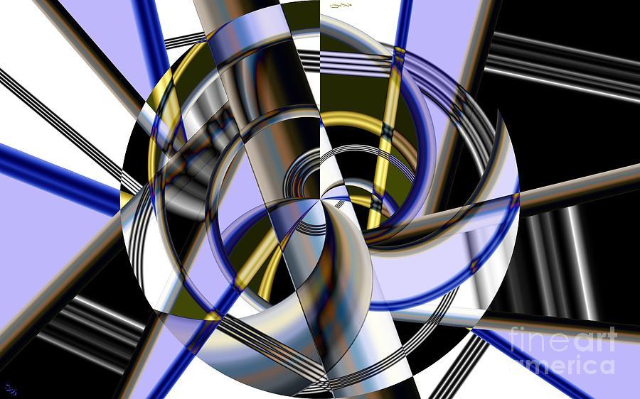 Metal Digital Art - Metallics 5 by Ron Bissett