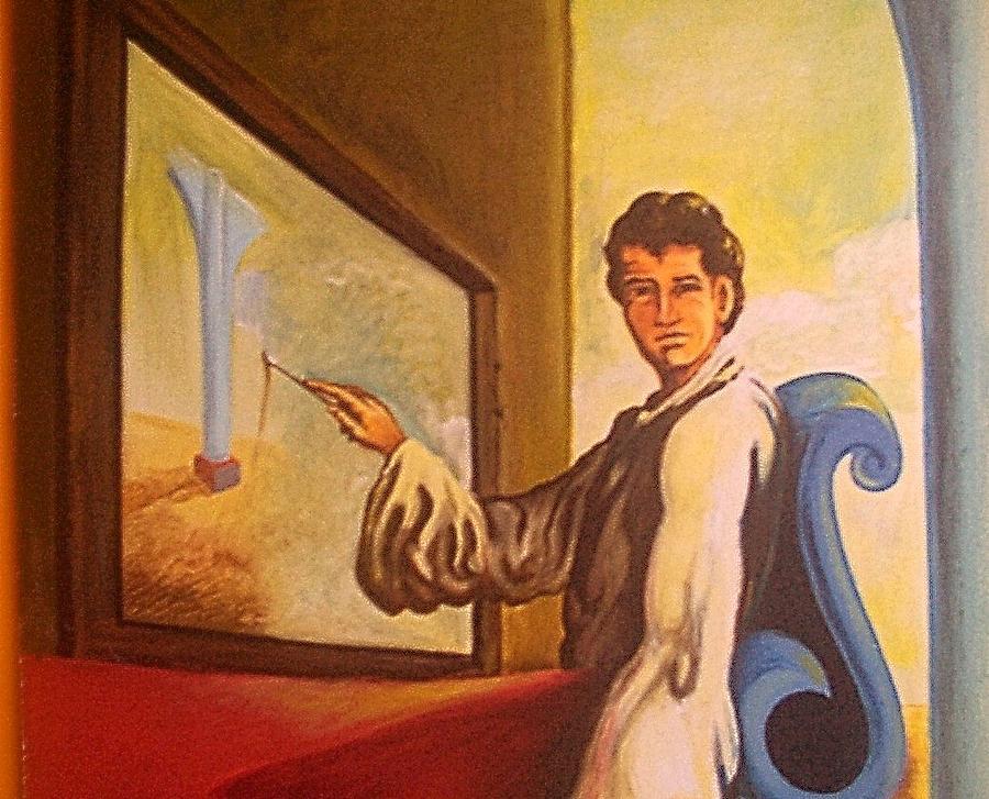 Dali Painting - Metamorphosis   Detail by Joe Santana